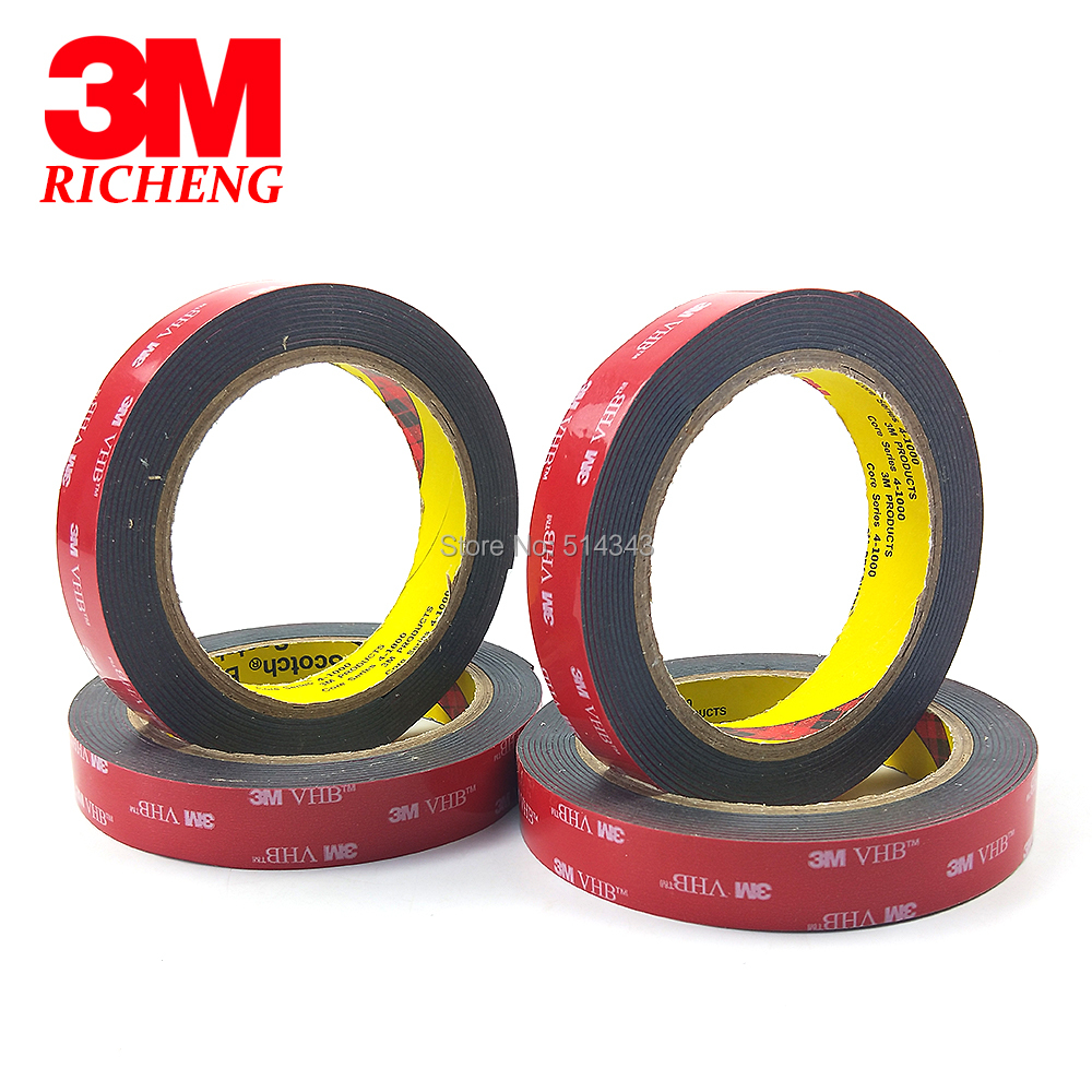 3M VHB 5952 3m Black Double Sided Tape Outstanding Durability Performance VHB Tape Two Side Acrylic Adhesive 18mm*3m/1Rolls/Lot 3m double side adhesive tape for auto 3000cm x 0 8cm