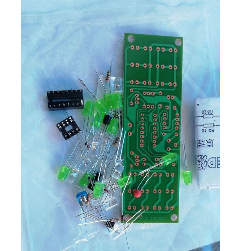 NE555 + CD4017 Red Green Double Color Flashing Lights
