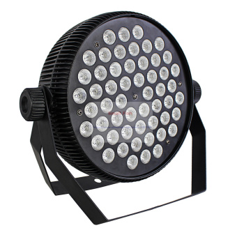 4XLot แบบพกพาเงียบแสงแบน LED Stage Effect 54X3W RGB Dj Disco DMX Led Beam Wash Strobe