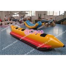 Воздуха до двери, захватывающее хорошее качество 4 человека надувная летучая рыба труба буксируемая Банановая лодка, Бесплатный воздушный насос