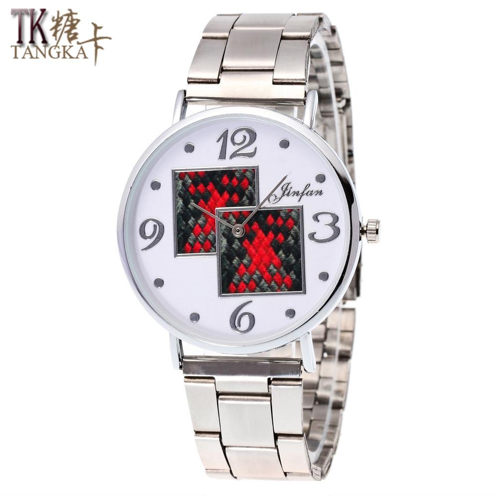 2016 Hot Sale Geneva Business Automatic Mechanical Watch Fashion  Rose Gold Women Men Stainless Steel Quartz Watch Couple
