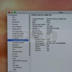 """Image 2 - Utilisé pour NVIDIA GeForce 8800GS 8800 GS carte graphique vidéo 512 mo pour Apple iMac 24 """"A1225 VGA carte 661 4664 2008 an"""