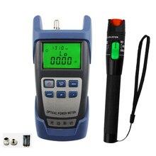 2 w 1 zestaw narzędzi światłowodowych FTTH z miernikiem mocy optycznej i 30MW lokalizator uszkodzeń wizualnych użyj światłowodowego długopis testowy