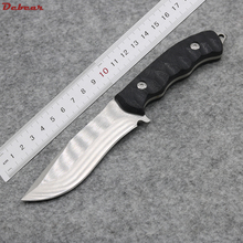 Dcbear Pocket Camping Fixed Knife With 5CR13MOV Steel Combat Tactical Survival Knives EDC Outdoor Hunting Tool