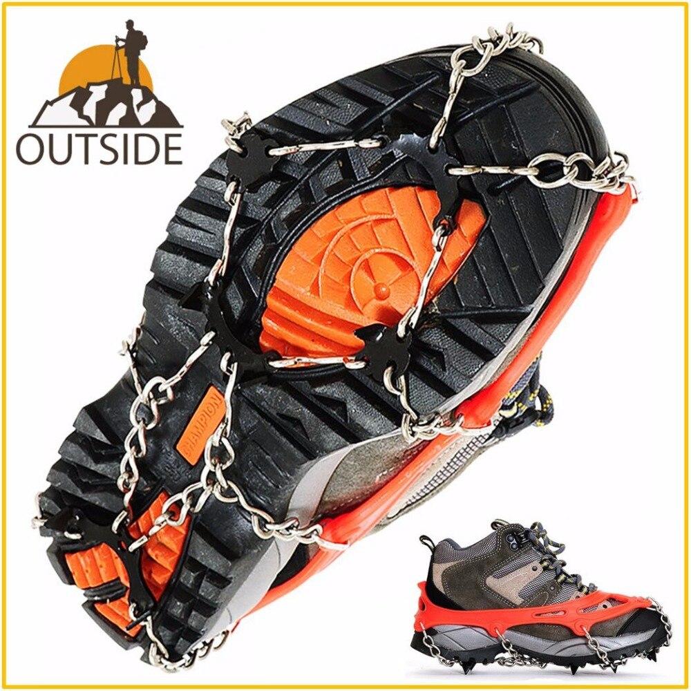 Qualität M L Größe Steigeisen 8 Zähne Outdoor Bergsteigen Wandern Antislip Eis Schnee Spikes Schuh Steigeisen Schuh Spikes Skidproof