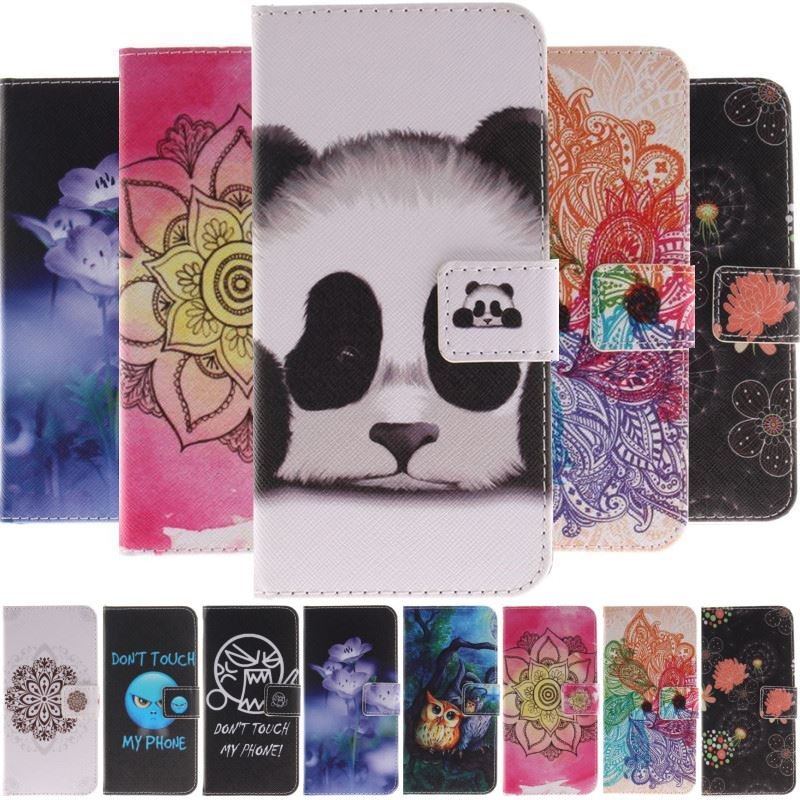 <font><b>Case</b></font> For <font><b>Samsung</b></font> Galaxy j3 j5 j7 2017 2016 A6 <font><b>S9</b></font> S8 Plus S7 S6 Edge S5 Painted Panda Anger Owl Wallet Card <font><b>Holder</b></font> Cover Bag D26G image