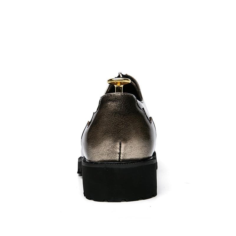 Couleur Gold Nouveau Richelieu De Occasionnels Design Oxford Appartements Oxfords Haute Verni Qualité Pleine Black Bout En Chaussures Fleur Pointu Mode Mixte Cuir Hommes light PrqPwxaEg