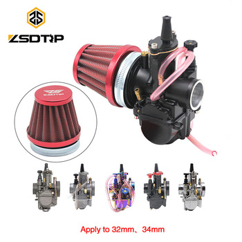 ZSDTRP 55mm, taza de filtro de aire para Carburador modificado para motocicleta Keihin OKO KOSO PWK 2T/4T 32mm 34mm, Carburador