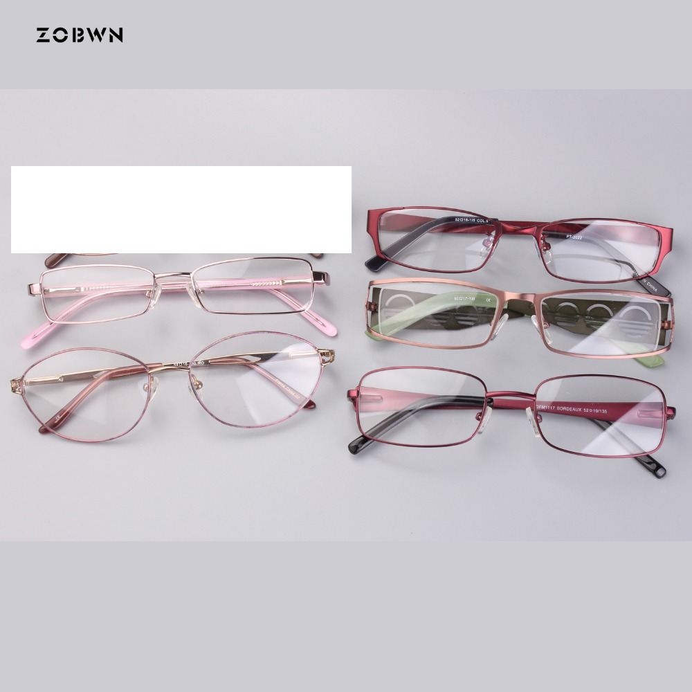 Mix wholesale Classic metal Men Women Eyeglasses simple Frames Anti fatigue Goggles Spectacles Female Male Oval Glasses Frames in Women 39 s Eyewear Frames from Apparel Accessories