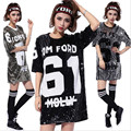 2016 Women Beyonce Bulls Sequined Jerseys Girls Shirts 61 DancingTops Pole Dance/Disco/Jazz Dance/Hip-hop T Shirt Wholesale