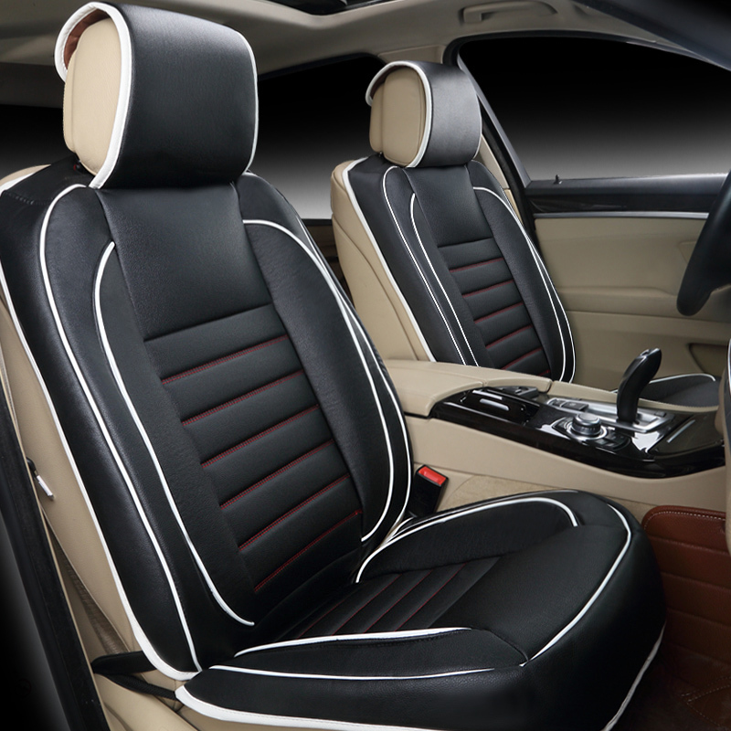 Free shipping 100 Leather car seat covers Fashion design
