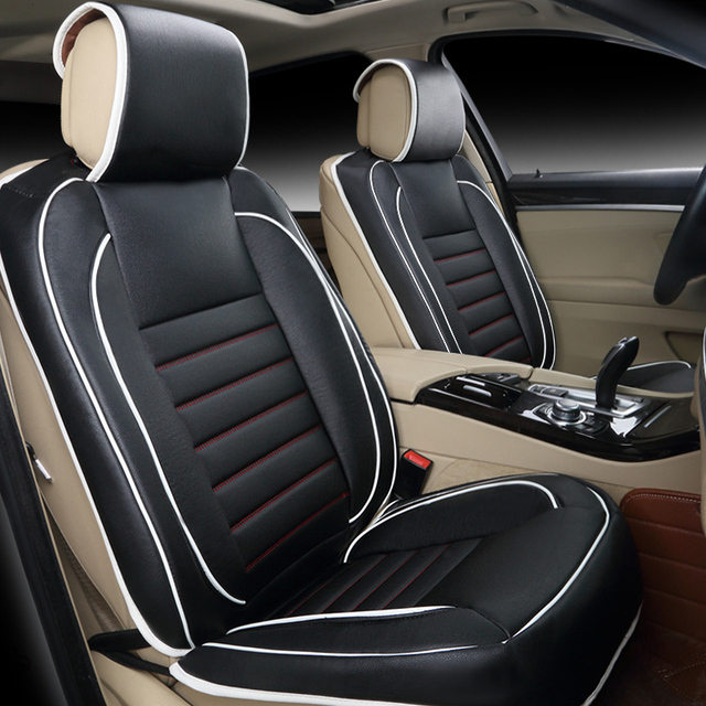 Free Shipping 100 Leather Car Seat Covers Fashion Design Car