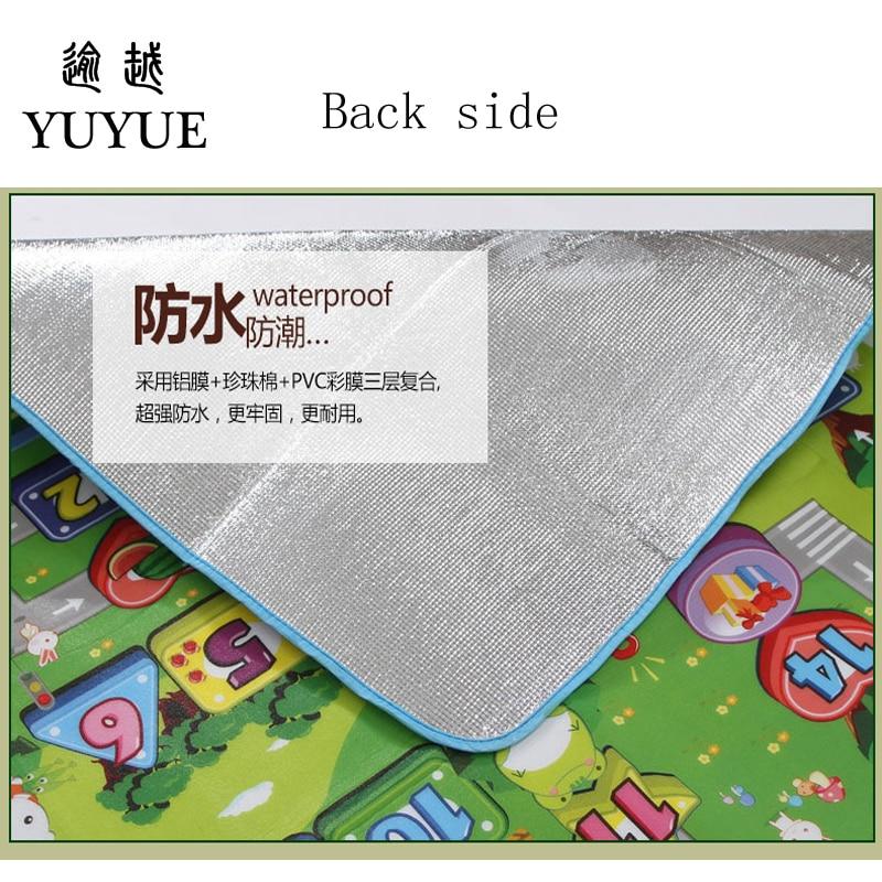 150*180cm waterproof aluminum picnic mat cartoon design for children climb mats baby crawls cushioning mat playmat 5