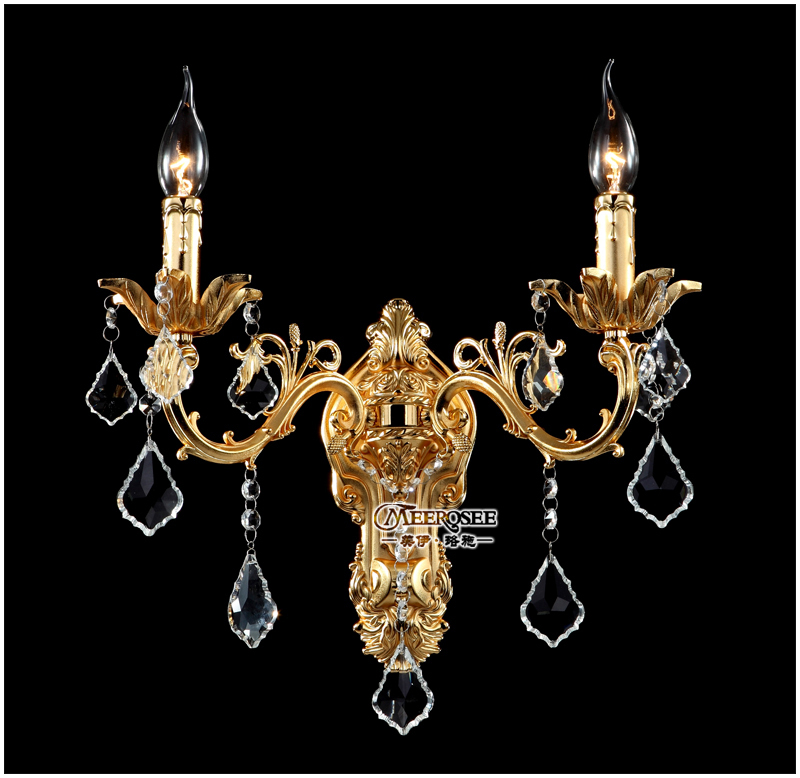Classic Golden Crystal Wall Light Fixture Silver Sconces Lamp Brackets Free Shipping In Lamps From Lights Lighting On