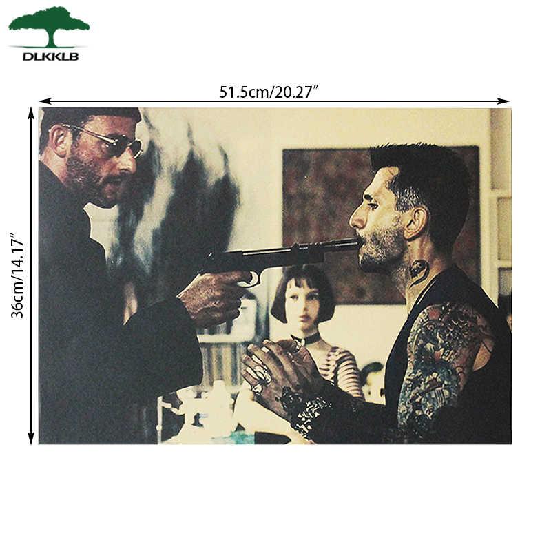 Dlkklb ליאון בציר סרט פוסטר קראפט נייר פוסטר בסלון חדר שינה בר קפה דקור 51.5x36cm בית דקור