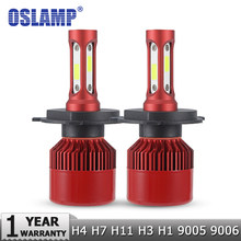 Oslamp H4 LED Headlight Bulbs H7 H11 H1 H3 9012 9005 9006 COB Auto Headlamp 60W 7000lm 6500K/4300K 9007 H13 LED Car Light Bulb(China)