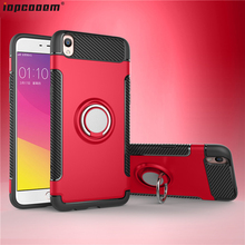 For OPPO R9 R9S Case F3 Plus TPU+PC shockproof With finger ring Holder Phone Back Cover coque