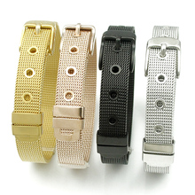 ФОТО new fashion high quality 4 color choose stainless steel bracelet 21cm*10mm fine jewelry for men women christmas gift hb1138
