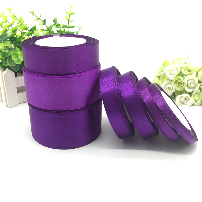 25 ярдов 6 10 15 20 25 38 50 мм темно фиолетовая шелковая атласная лента для украшения свадебной вечеринки|silk satin ribbon|satin ribbon25 yard | АлиЭкспресс