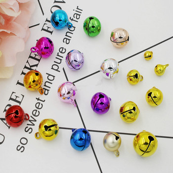 50pcs Navidad Colorful Jingle Bells Christmas Decorations for Home Pet Pendants Hanging New Year 2020 Tree Ornaments DIY Crafts image