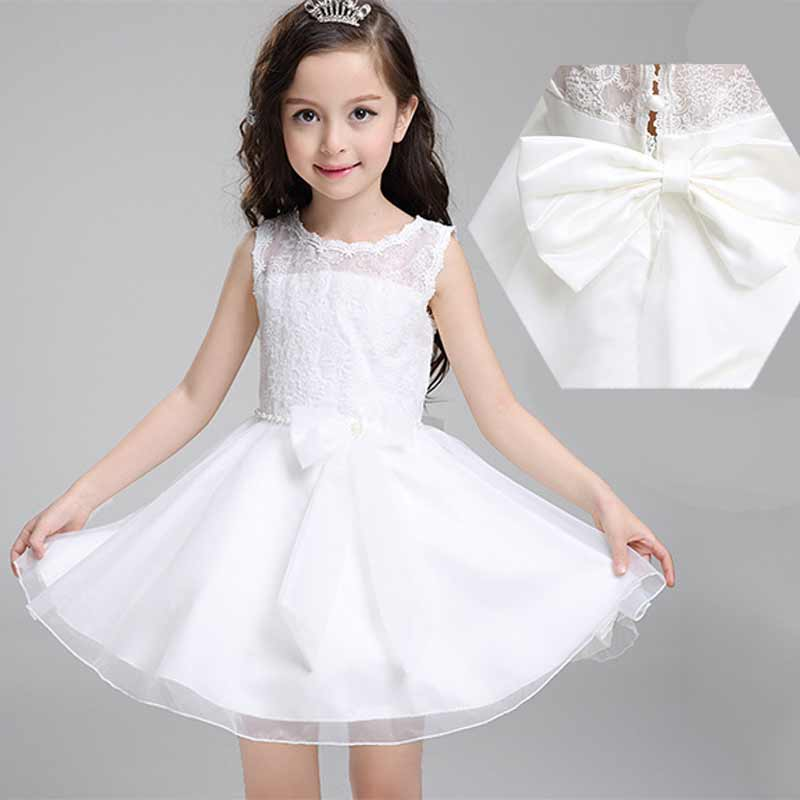 princess girls dresses summer 2016 bow baby girl party