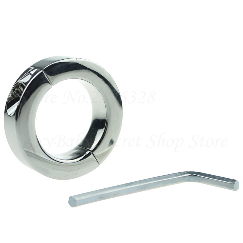 Metal Screw Locking Penis Rings,Scrotum Testicle Lock Clamp,Cock Ring Ball Stretcher,Chastity Device Delay Adult Game for Men