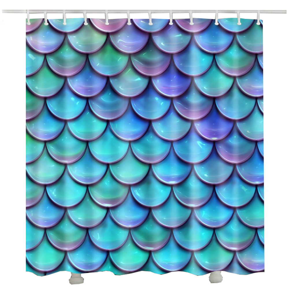 2017 New Arrival Gold Fish scales Shower Curtain Hot Sale Unique Cheap cortina de ducha bathroom curtains waterproof