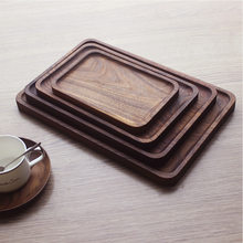 Black Walnut Wood Rectangular Tableware Serving Tray, Decorative Trays, Platters for Tea/Coffee/ Wine Red /Fruit Serving(China)