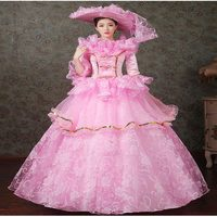 Customized 2018 Brand New Renaissance Marie Antoinette Party Dresses Medieval Evening Ball Gowns Dress For Women Drop Shipping