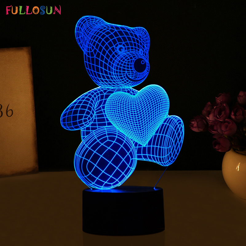 HTB1XEFpRVXXXXclaXXXq6xXFXXXV - Lampka Nocna Led 3D Miś
