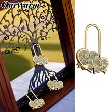 OurWarm Wedding Lock Souvenirs for the Russian Letter Love Gifts Guests Rustic Decoration You+Me=Family