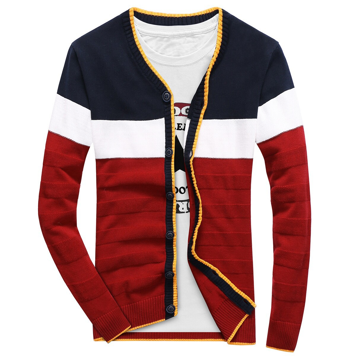 2017 autumn new font b men b font font b sweater b font fashion leisure stripe