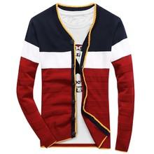 2017 autumn new men sweater fashion leisure stripe knitting cardigan