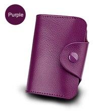 womens credit card wallet Genuine Leather Business Card Holder Wallet Bank Credit Card Case ID Holders Women cardholder porte carte