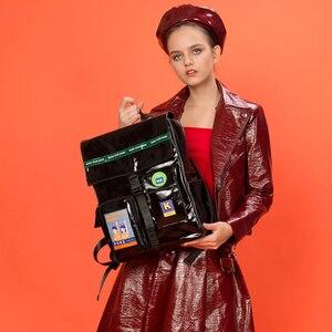 Image 5 - 2019 Originele black waterdichte grote rugzakken schooltassen voor tieners 15.6inch laptop tassen in POSE serie 2 (FUN KIK)