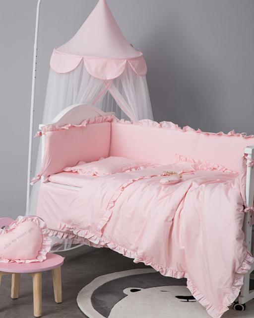 6Pcs Baby Bedding Cotton Bumper Set