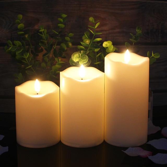 3 sztuk/zestaw pilot LED bezpłomieniowe świece świece noworoczne zasilane baterią Led Tea Lights świeca wielkanocna z opakowaniem