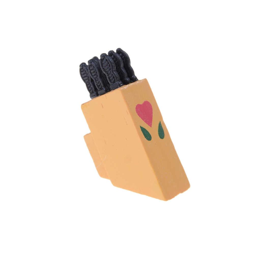 12 قطعة 1:12 دمية صغيرة المنمنمة أدوات المائدة والسكاكين سكين شوكة ملعقة سكينة تقطيع الكيك تقطيع كتلة المطبخ الغذاء الأثاث اللعب