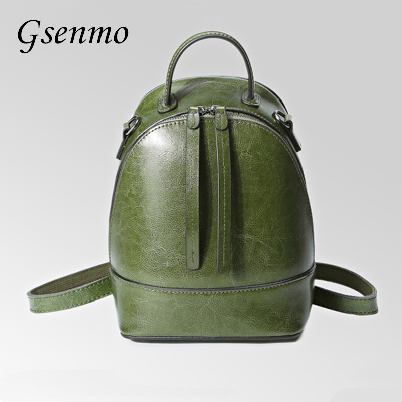 Gsenmo Top Quality Cow Split Leather Women Backpack Cross Vintage Backpack For Teenage Girls Casual Bags Female Shoulder Bags high quality cow split leather women backpack vintage backpacks for teenage girls casual bags female shoulder bags for students