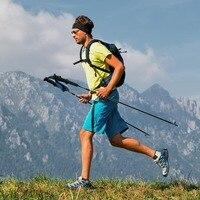 Naturehike vara de caminhada  vara de aço de tungstênio com 4 seções de fibra de carbono  ultraleve  para corrida e caminhadas