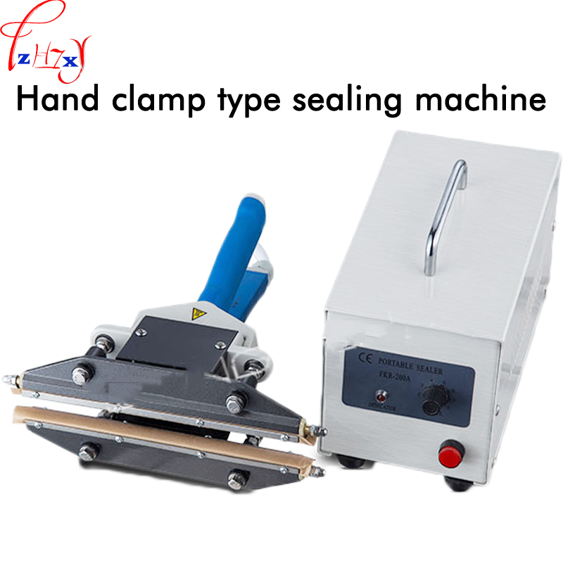 1PC FKR-200A Hand clamp sealing machine 450W pulse transient heating seal used in PE film and other sealing packaging 110/220V1PC FKR-200A Hand clamp sealing machine 450W pulse transient heating seal used in PE film and other sealing packaging 110/220V