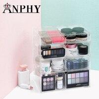 ANFEI Home контейнер для хранения 4 ящика Акриловая Организатор макияж помада лак для ногтей ясно Пластик коробка для хранения косметики C132