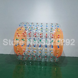 Inflatable Water Roller Ball For Wate Games 2.4x2.2x1.7m Water Roller Wheel For Human PVC/TPU Roller For People Play Inside