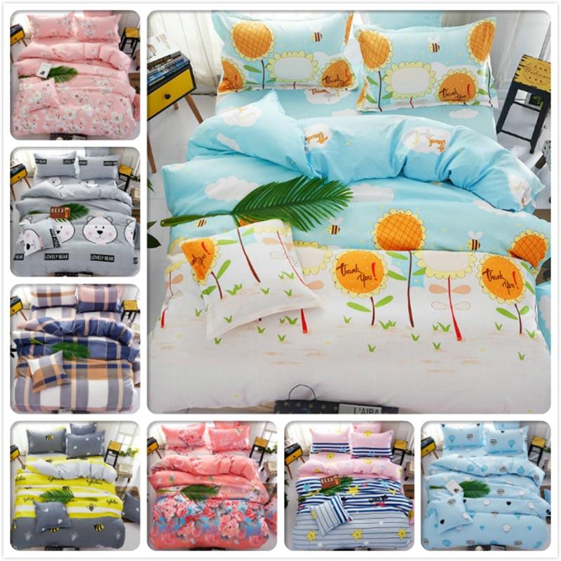 Winter Flower Kids 3/4 pcs Bedding Set King Queen Double Twin Single Size Duvet Quilt Cover 1.2m 1.5m 1.8m 2m Bedsheet Bedlinens