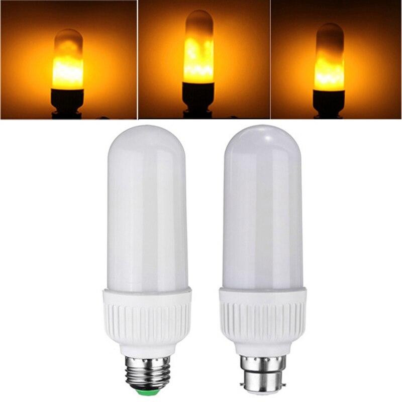New Arrival 5W 2835 SMD 99LEDs LED Lamp Bulb E27 B22 1800K Yellow Flickering Flame Fire LED Light Bulb Corn Light Bulb AC85-265V new arrival 99