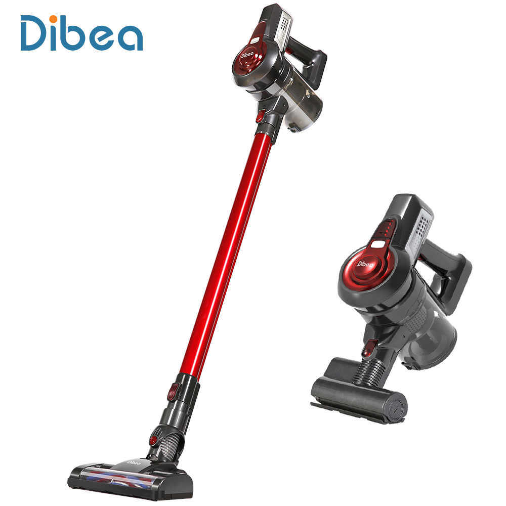 Dibea C17 Cordless Stick Vacuum Cleaner Handheld Dust Collector Household Aspirator with Docking Station Portable Sweeper drill buddy cordless dust collector with laser level and bubble vial diy tool new