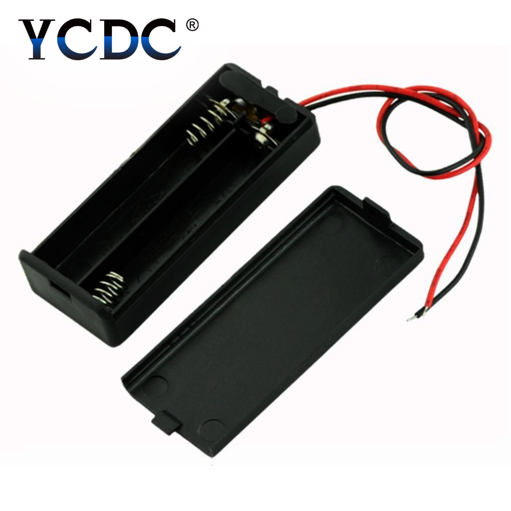 YCDC 2/3/4 Packs 14500 & 10440 battery Standard Slot Holder Case With Switch for AA / AAA batteries box Stack 6V 3volt Box ABS original delta afb1212hhe r00 dc12v 0 70a 3wires 120 120 38mm 12cm alarm signal cooling fan