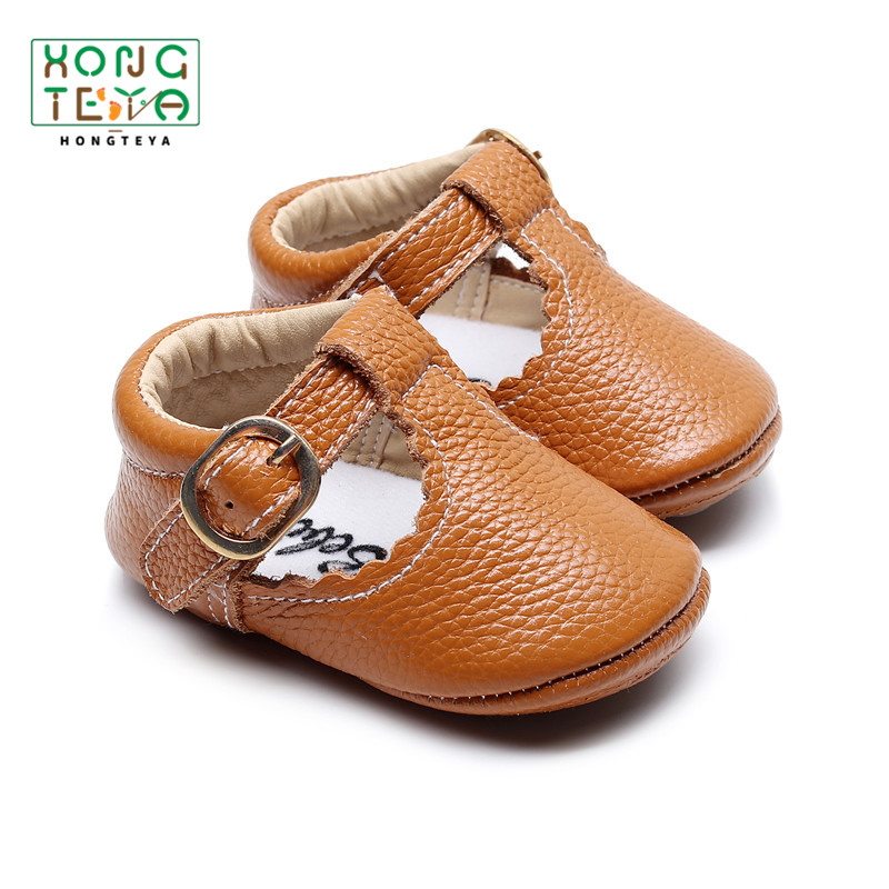 Girl Shoes Baby Moccasins Hard-Sole Jane Toddler Genuine-Leather First-Walkers Newborn