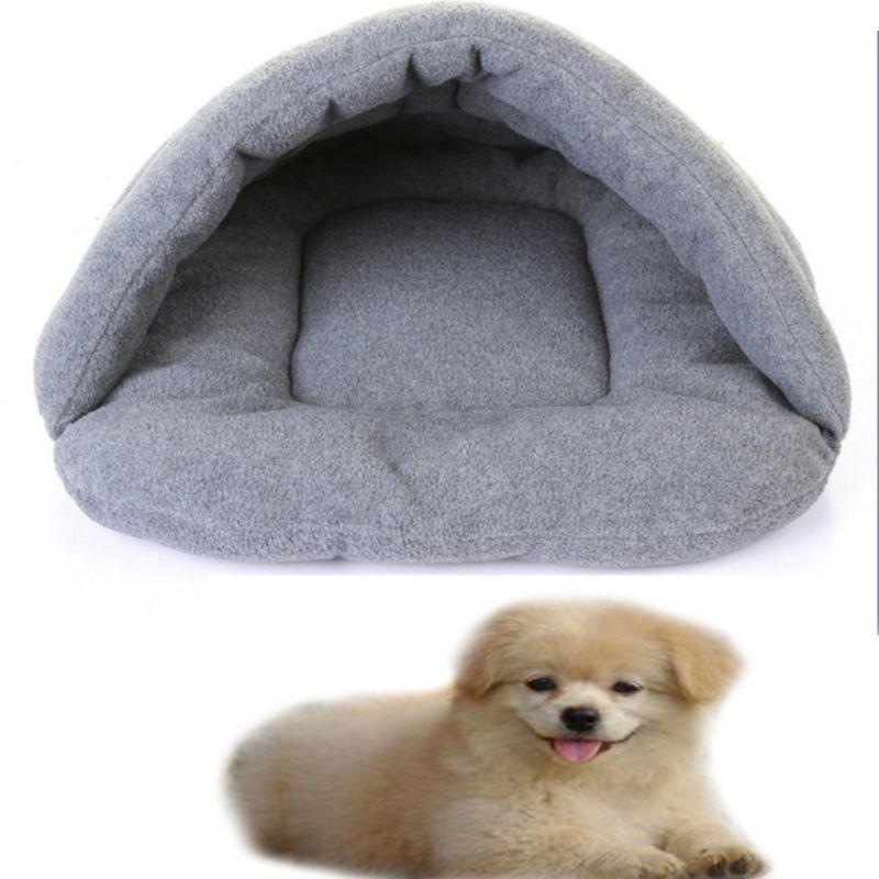 Warm Sleeping Bags Sofa Polar Fleece Material Bed Pet Mat Cat House Cat Sleeping Bag Pets For Small Dogs Cats Houses