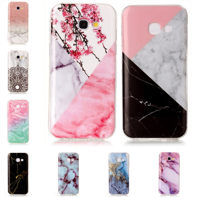 a345e41d172 Phone Cases for Samsung Galaxy A5 2017 Soft Silicon Case Marble Stone  Granite Back Phone Cover for Galaxy A5 2017 Hoesjes Shell